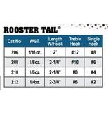 Yakima Bait Company 206 PK ROOSTER TAIL 1/16 OZ