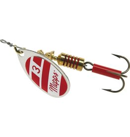 Mepps Mepps B3 S/RW Aglia In-Line Spinner 1/4 oz, Plain Treble Hook
