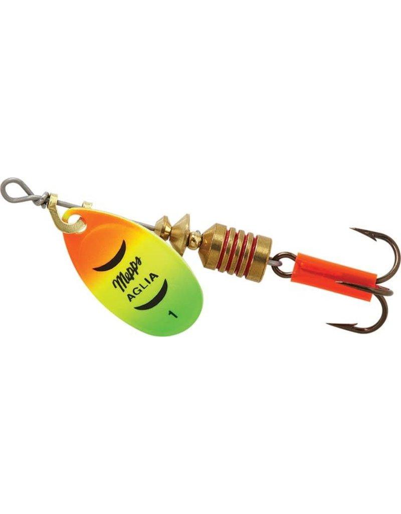 Mepps Mepps B1 HFT Aglia In-Line Spinner 1/8 oz, Plain Treble Hook, Hot