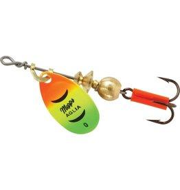 Mepps Mepps B0 HFT Aglia In-Line Spinner 1/12 oz, Plain Treble Hook, Hot