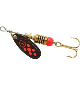 Mepps Black Fury - plain trbl fl red dot 1/8 OZ