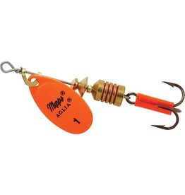 Mepps Aglia - plain trbl hot orange 1/8 OZ