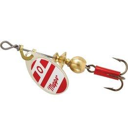 Mepps Mepps B0 S/RW Aglia In-Line Spinner 1/12 oz, Plain Treble Hook
