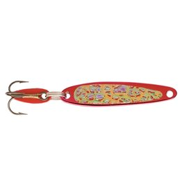 "Swedish Pimple (Bay De Noc) Bay de Noc 2RED ICE Swedish Pimple Jigging Lure, 1"" 1/10oz Crushed"