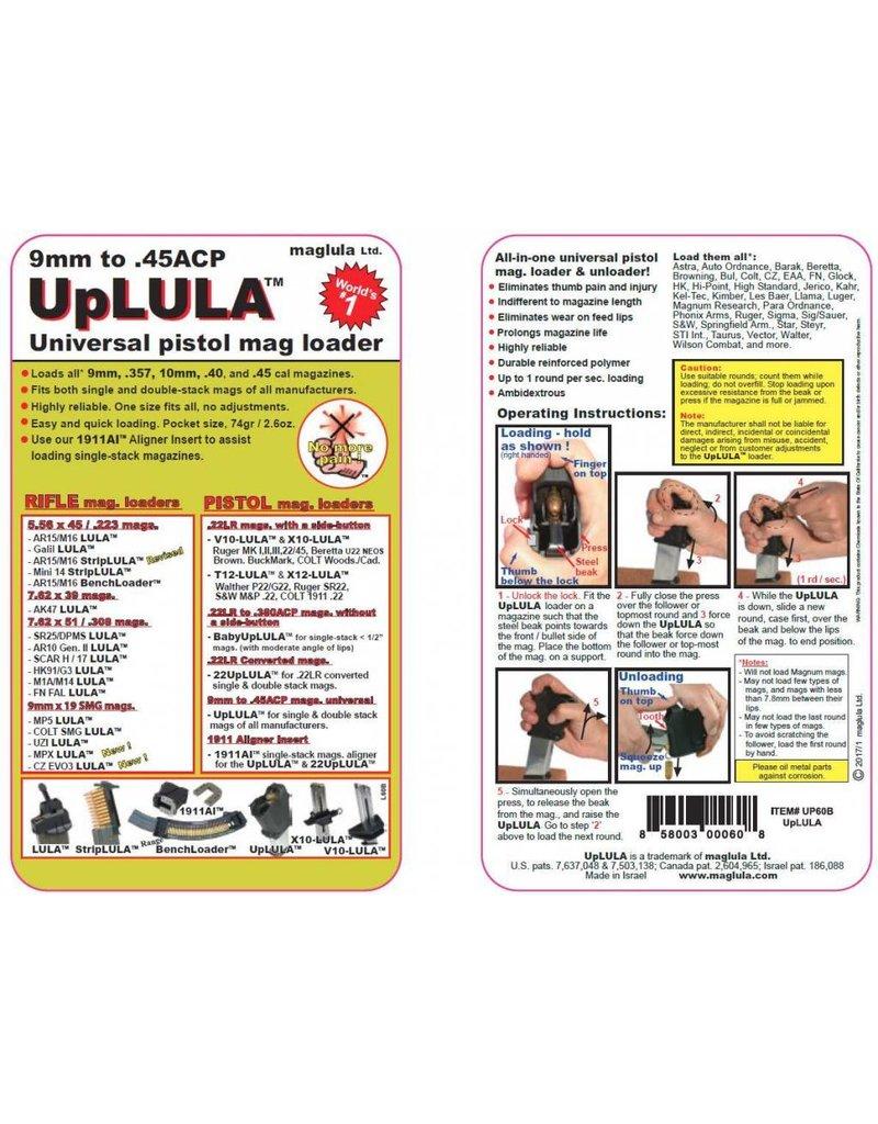 LULA UP60B Mag Up Universal Pistol Magazine Loader & Unloader
