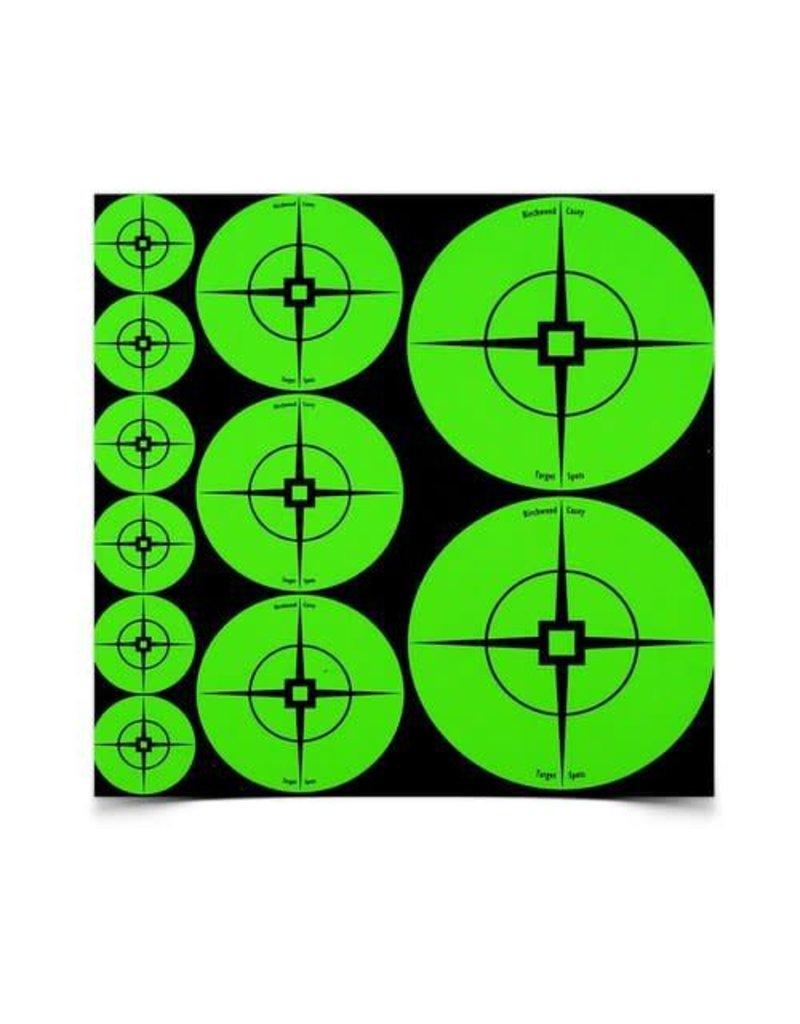 "Birchwood Casey 33938 Birchwood Case Target Spots Assortment Green 1""  60 2"" 30 & 3"" - 10 sheets"