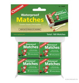 Coghlans Waterproof Matches - pk of 4