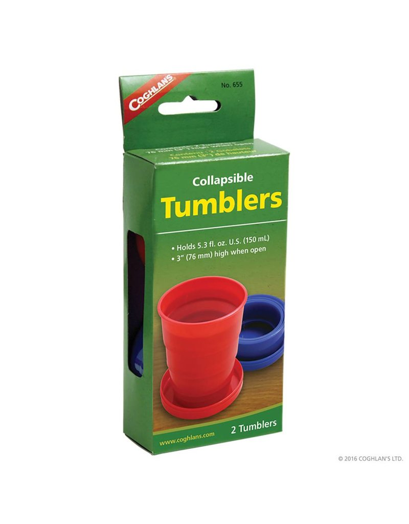 Coghlans Collapsible Tumblers - pkg of 2