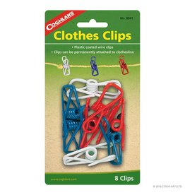 Coghlans Clothes Clips - pkg of 8