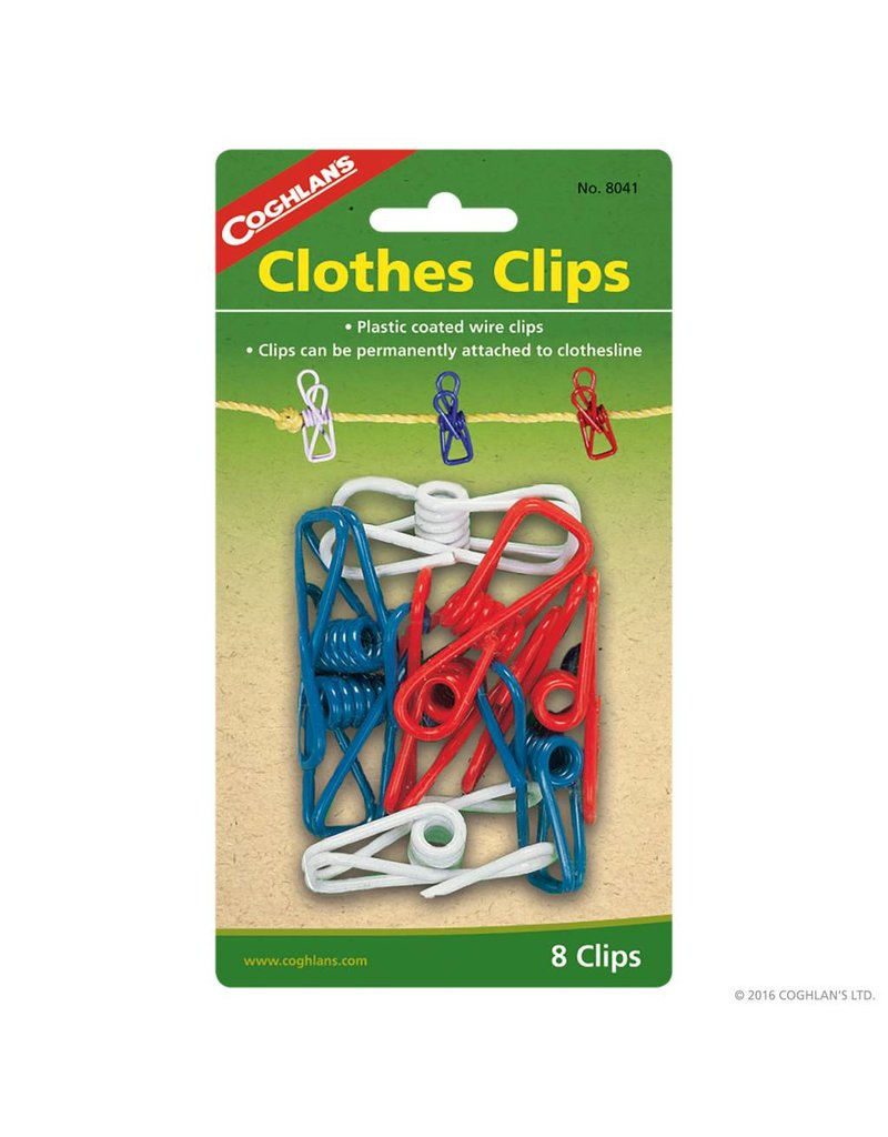 Coghlans Clothes Clips - pkg of 8