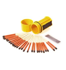 UCO MT-SM-CONT Yellow STORMPROOF MATCH CONTAINER W/25 MATCHES