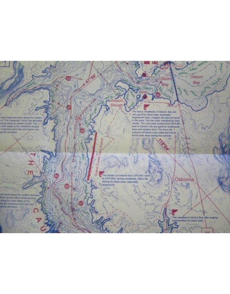 Fish-N-Map Banks Lake / Lake Washington - UPDATED FEBRUARY 2018