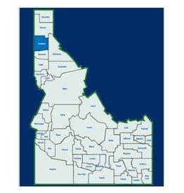 Big Sky Maps Idaho County Map-Kootenai County