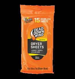 Dead Down Wind Dryer Sheets 15 Sheet Count