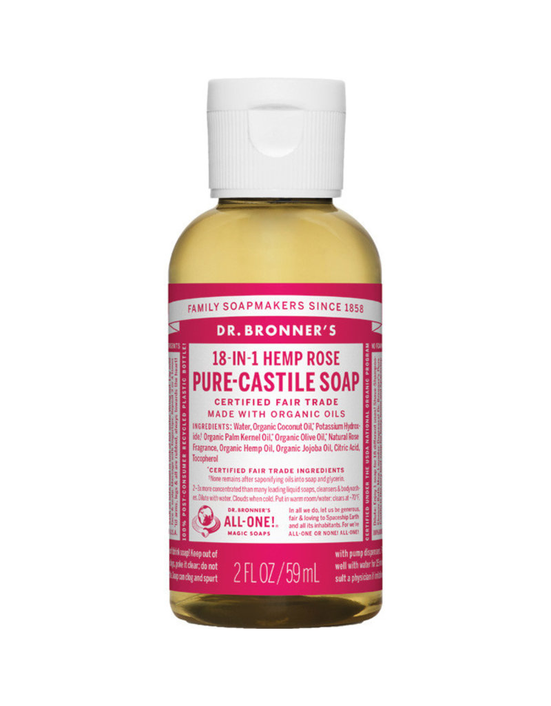Dr. Bronners DR. BRONNER'S SOAP(ROSE 2 OZ)