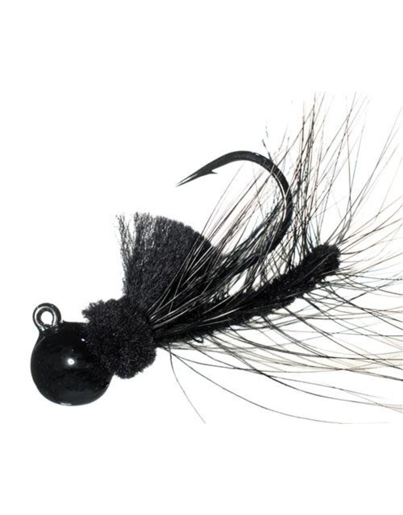 Aerojig (Hawken Ind.) Aerojig Hackle, 1/4 Oz, Black