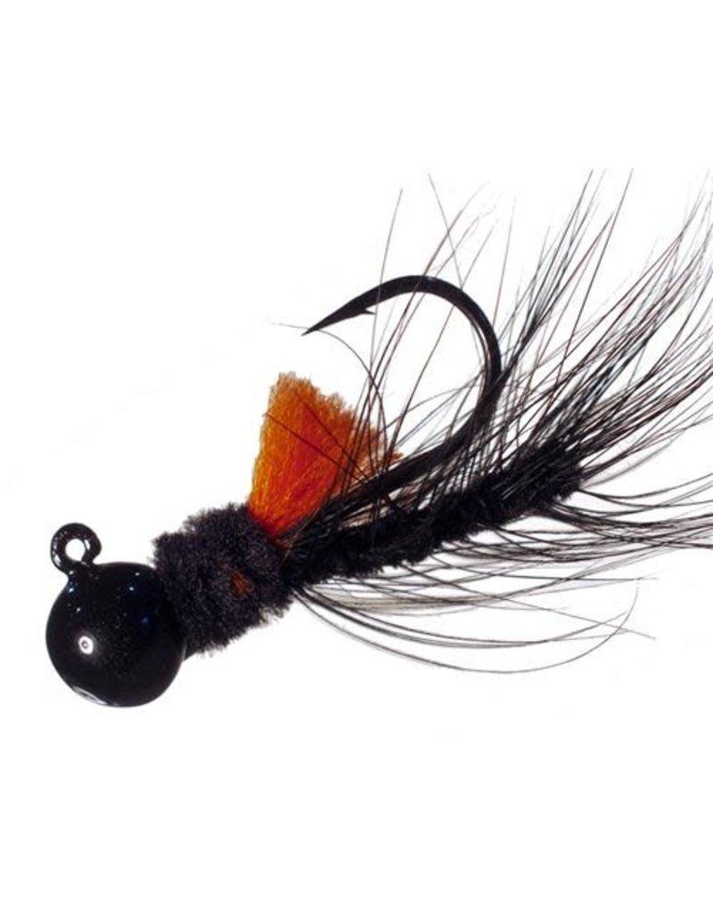 Aerojig (Hawken Ind.) Aerojig Hackle, 1/4 Oz, Blk/Orange