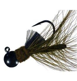 Hawken Fishing AJH14038 - #38 - Black, Dark Olive-Black