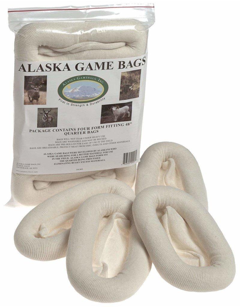 """Alaska Game Bags Deer, Antelope Sheep Bag, 4-Pack, 48"""" Rolled Quarter Bags"""