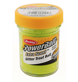 Berkley (Pure Fishing) STBGC PowerBait Glitter Trout Bait Chartreuse  1.8 OZ