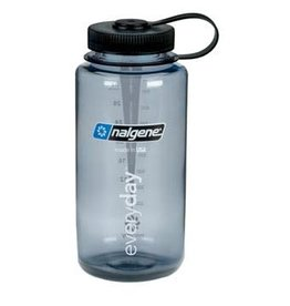 Liberty Mountain Wide Mouth 1 QT Bottle Gray w/Blue Lid
