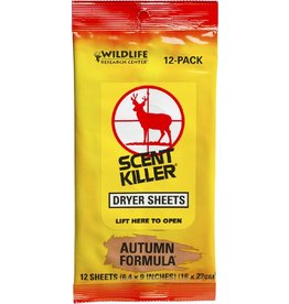 Wildlife Research Scent Killer Autumn Formula Dryer Sheets (12-pack)