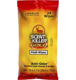 Wildlife Research Wildlife Research 1295 Scent Killer Gold Field Wipes , 24-Pack