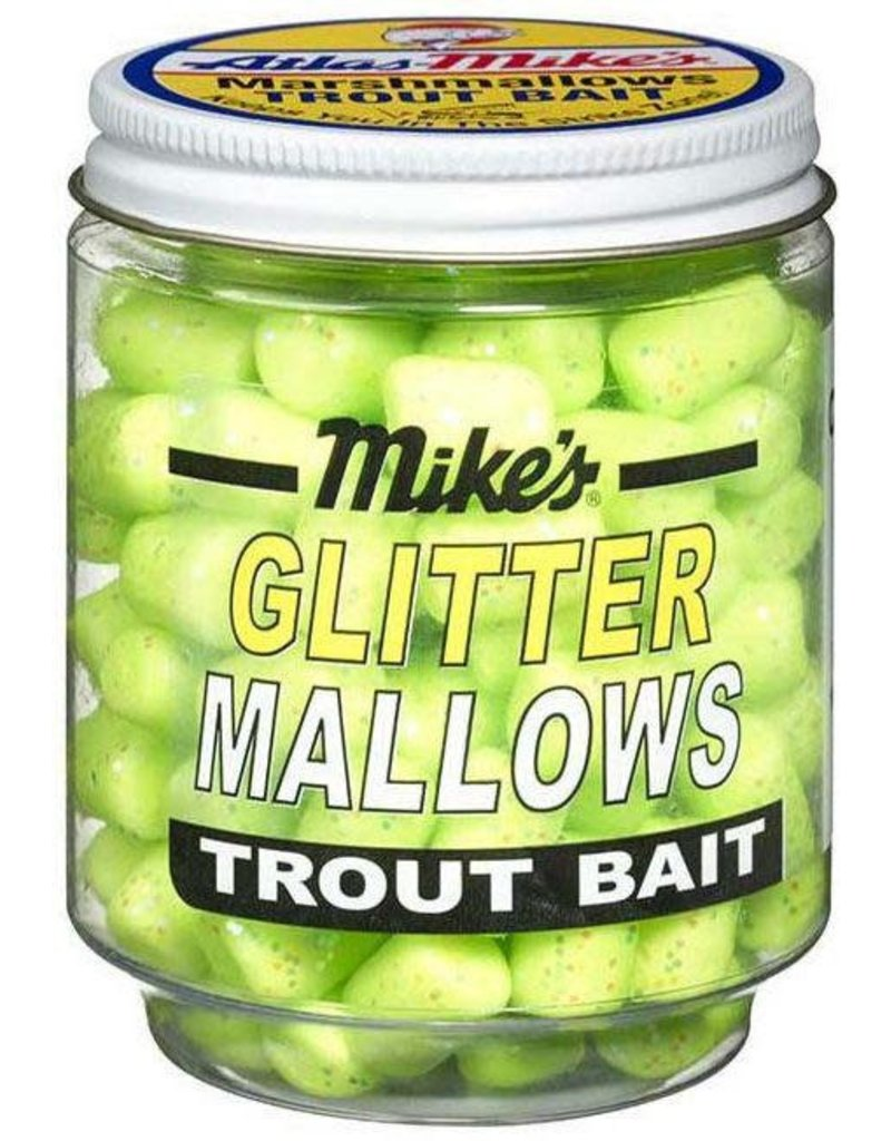 Atlas-Mikes Mike's 5230 Glitter Mallows Chartreuse/Garlic 1.5oz Jar