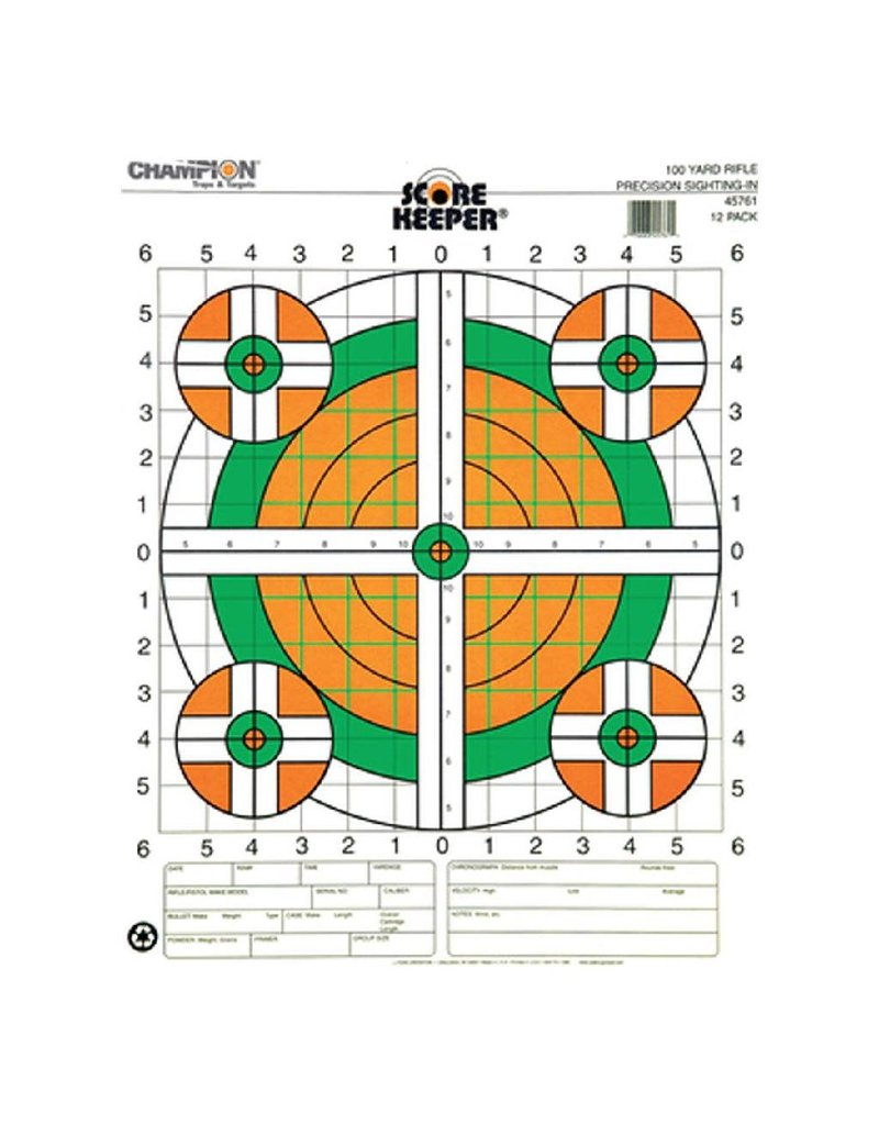 Champion (Vista Outdoors) 45761 Champion 100 YD SIGHTIN RIFLE, FLOURESCENT (12 PK)