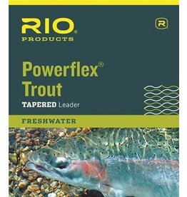 RIO Products POWERFLEX 9FT 4X LEADERS 3 PACK Size: 9ft/4x Length: 9ft/2.7m Test: 6.4lb/2.9kg diameter: 0.007in/0.178mm
