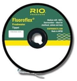 RIO Products FLUOROFLEX FRESHWATER TIPPET 30YD 5X Size: 5x Length: 30yds/27.4m Test: 4lb/1.8kg diameter: 0.006in/0.127mm