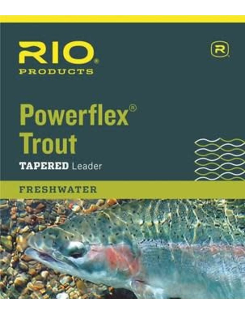 RIO Products POWERFLEX 9FT 6X LEADERS Size: 9ft/6x Length: 9ft/2.7m Test: 3.4lb/1.5kg diameter: 0.005in/0.127mm