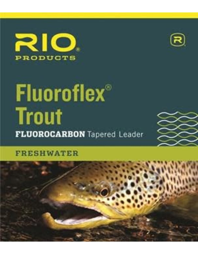 RIO Products FLUOROFLEX TROUT LEADER 9FT 5X Size: 9ft/5x Length: 9ft/2.7m Test: 3lb/1.3kg diameter: 0.006in/0.152mm