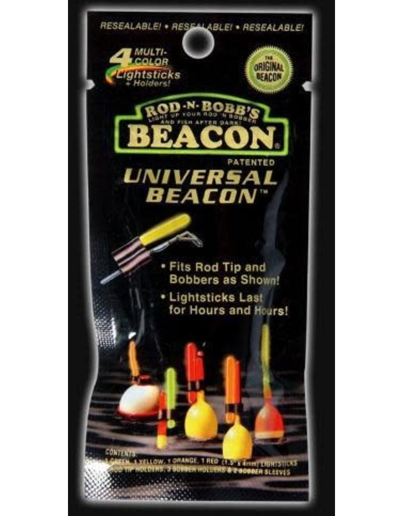 Rod-N-Bobb's 4 PK MULTI COLOR UNIVERSAL BEACON W/HOLDERS
