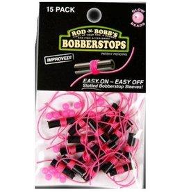 Rod N Bobb's 15 PK BOBBER STOPS & GLOW BEADS PINK