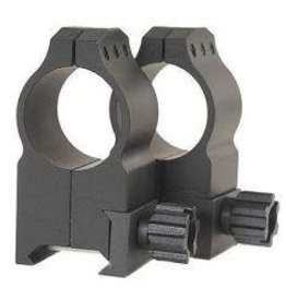 Warne Scope Mounts 1 inch Tactical Extra High Matte Rings