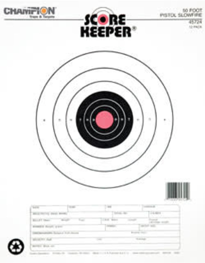 Champion (Vista Outdoors) 45724 Champion 50 ft Pistol Slowfire O/B 12 PK