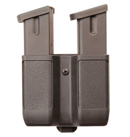 Blackhawk Products Group 410610PBK Blackhawk Dbl Mag Case - Dbl Row- Matte 9 mm /40 CAL/ .45 CAL