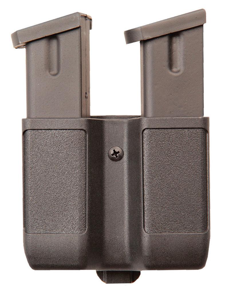 Blackhawk Products Group 410610PBK Blackhawk Dbl Mag Case - Dbl Row- Matte 9 mm /40 CAL/ .45 CAL