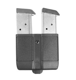 Blackhawk Products Group 410510PBK Blackhawk Double Mag Case Single Row  9 MM/ 10MM/.40 CAL/ .45 CAL