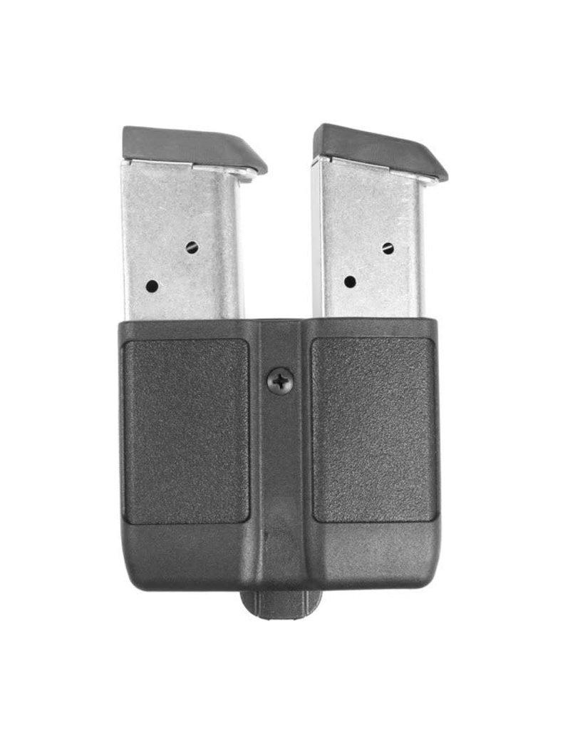 Blackhawk Products Group 410510PBK Blackhawk Double Mag Case Single Row  9 MM/ 10MM/.40 CAL/ .45 CAL