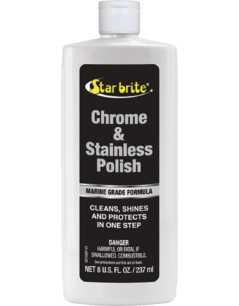 Star Brite Chrome & Stainless Steel Polish, 8 oz.