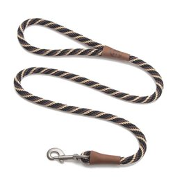 "Mendota Products Snap Leash 1/2"" x 6' - Twist - Mocha"