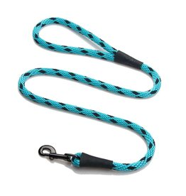 "Mendota Products Snap Leash 1/2"" x 4' - Black Ice - Turquoise"