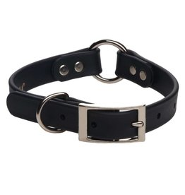 "Mendota Products DURASOFT IMITATION LEATHER COLLAR - CENTER RINGBlack - 3/4"" x 14"""