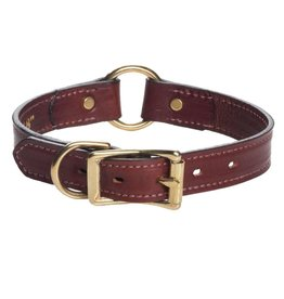 "Mendota Products Leather Wide Hunt Collar - Chestnut - 1"" x 18"""