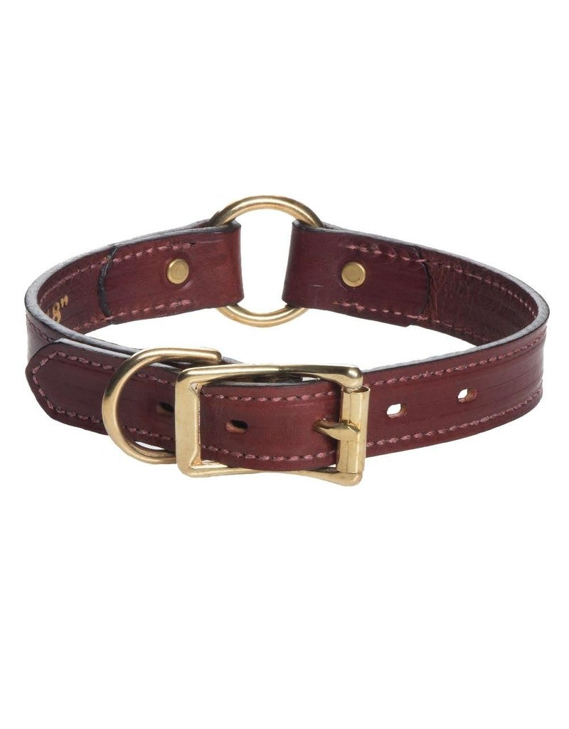 """Mendota Products Leather Wide Hunt Collar - Chestnut - 1"""" x 18"""""""
