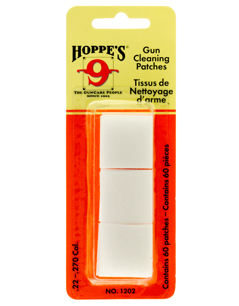 Hoppes Hoppes 1203 Gun Cleaning Patches .270-.35 Cal 50 Pack