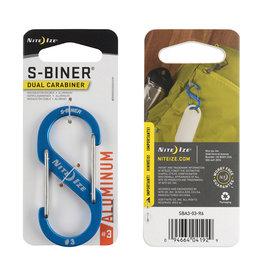 Nite Ize S-Biner® Aluminum Dual Carabiner #3 - Blue