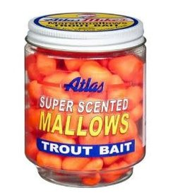 Atlas-Mikes Atlas-Mike's 30033 Super Scented Mallows Orange/Garlic 1.5oz Jar